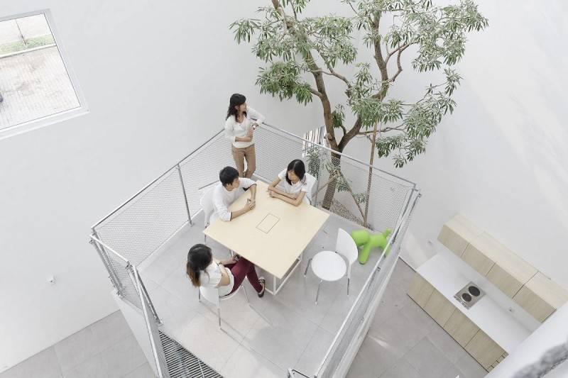 Antony Liu + Ferry Ridwan / Studio Tonton Griya Anugerah (Polyclinic) Tangerang, Banten, Indonesia Tangerang, Banten, Indonesia Seating Area Modern 7956