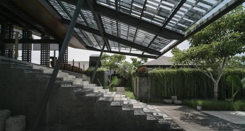 Antony Liu + Ferry Ridwan / Studio Tonton The Santai Umalas, Bali, Indonesia Umalas, Bali, Indonesia Stairs To Entrance Modern 7997
