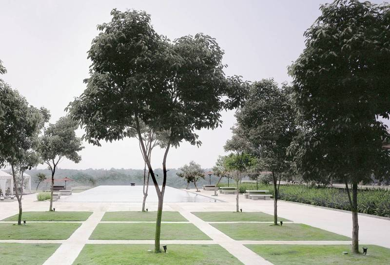 Foto inspirasi ide desain taman minimalis Courtyard oleh Antony Liu + Ferry Ridwan / Studio TonTon di Arsitag