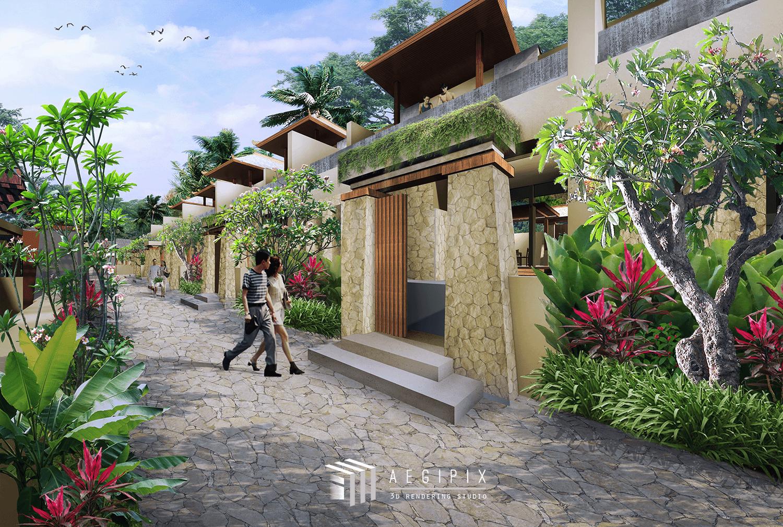 Risa Anindita Rinadiputri Sadiya Residence  Uluwatu Uluwatu Entrance Tropis 8635