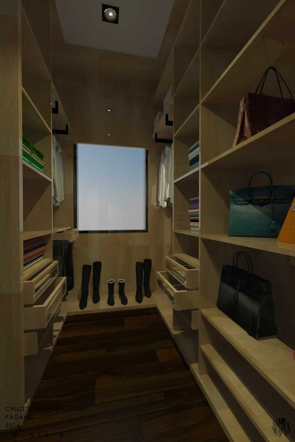 Cocobolo Studio D House Padang, Indonesia Padang, Indonesia Walk-In Closet Minimalis,modern 18266