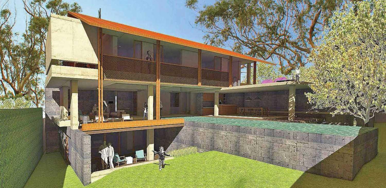 Platform Architects Canggu Villa Bali, Indonesia Bali, Indonesia Front-View  8405