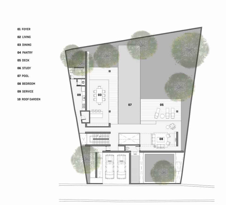Platform Architects Canggu Villa Bali, Indonesia Bali, Indonesia 2Nd-Floor-Plan  8412