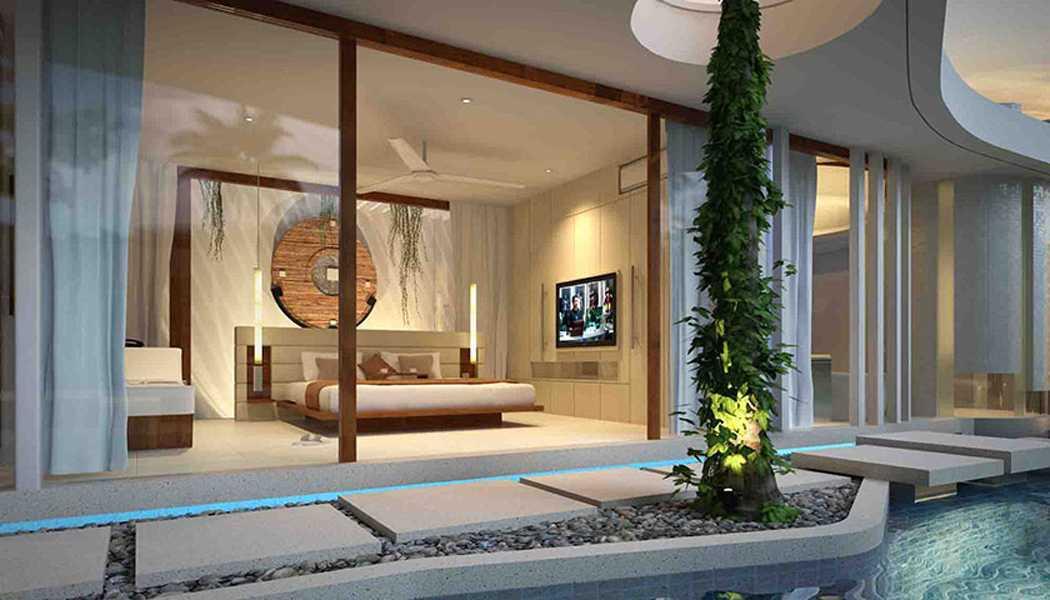 Foto inspirasi ide desain kamar tidur tropis Bedroom oleh IMAGO DESIGN STUDIO di Arsitag