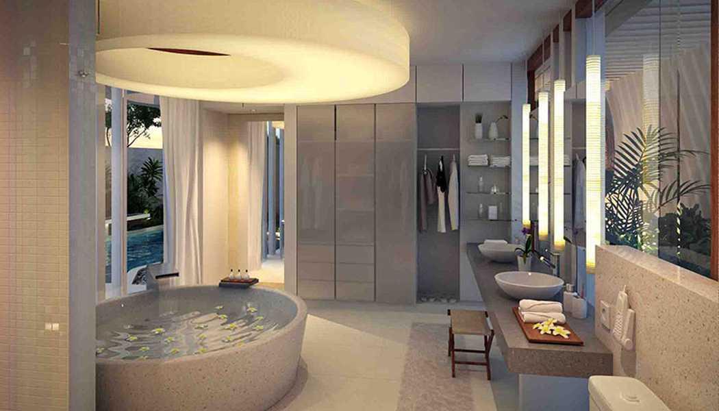 Foto inspirasi ide desain kamar mandi tropis Bathroom oleh IMAGO DESIGN STUDIO di Arsitag