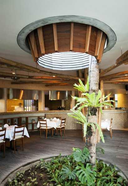Foto inspirasi ide desain ruang makan modern Restaurant area oleh IMAGO DESIGN STUDIO di Arsitag