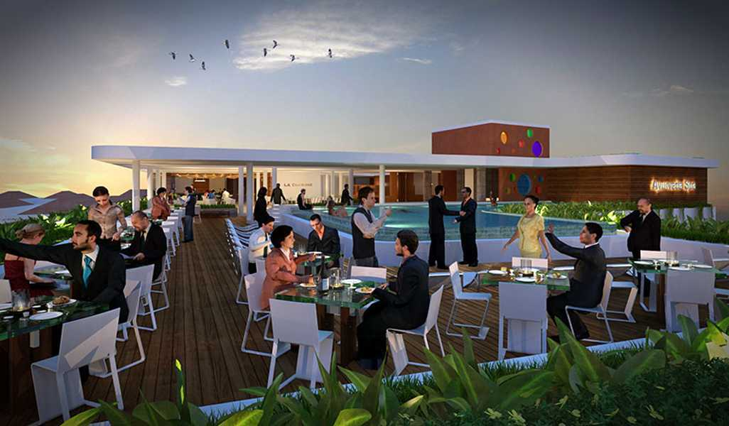 Foto inspirasi ide desain atap Rooftop oleh IMAGO DESIGN STUDIO di Arsitag