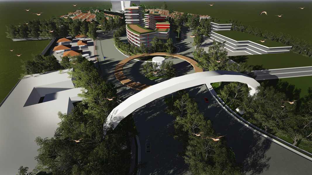 Imago Design Studio Menganti Residences Surabaya Surabaya Bird Eye View Tropis 8997
