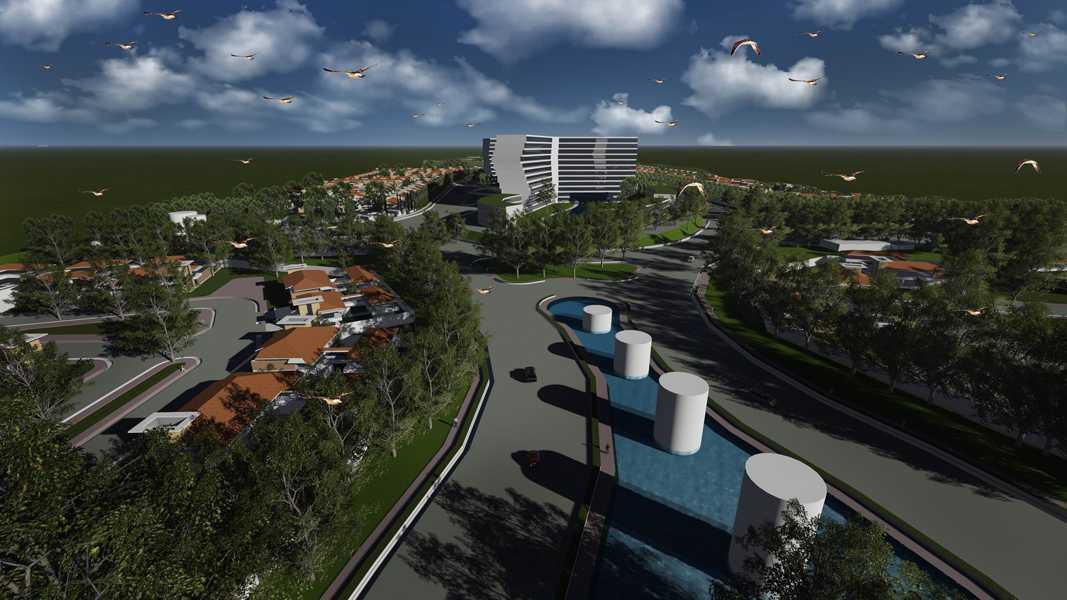 Imago Design Studio Menganti Residences Surabaya Surabaya Bird Eye View Tropis 9007