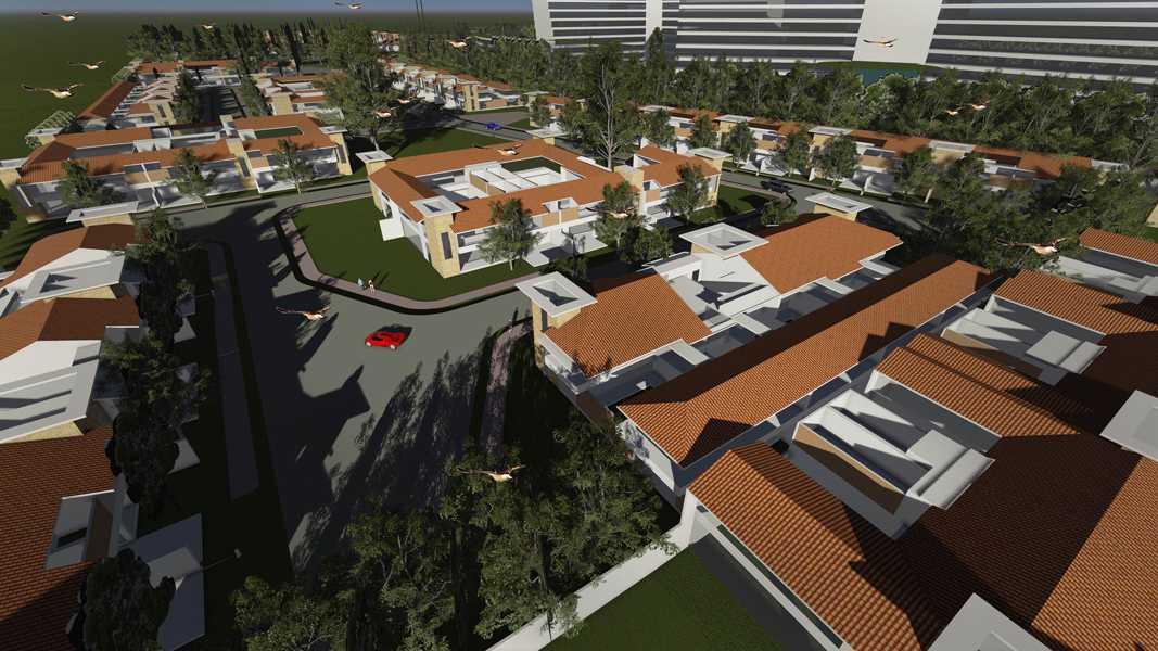 Imago Design Studio Menganti Residences Surabaya Surabaya Bird Eye View Tropis 9008