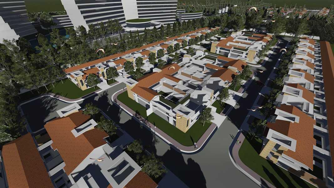 Imago Design Studio Menganti Residences Surabaya Surabaya Bird Eye View Tropis 9009
