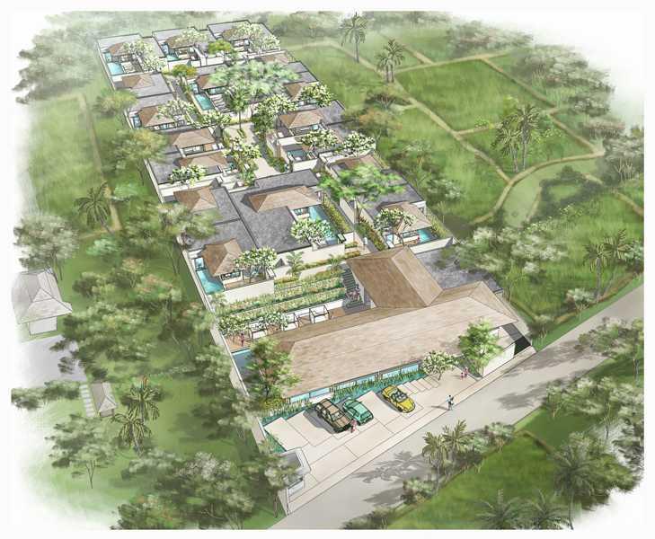 Imago Design Studio Seminyak Villas Seminyak, Bali Seminyak, Bali Site Plan Tropis 9070