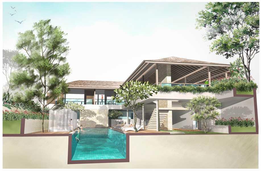 Foto inspirasi ide desain kolam tropis Seminyak-villas-3 oleh IMAGO DESIGN STUDIO di Arsitag