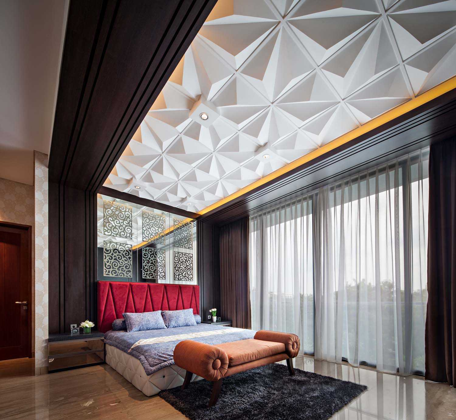 Dp+Hs Architects F+W House Jakarta, Indonesia Jakarta, Indonesia Master Bedroom Contemporary,modern 8531