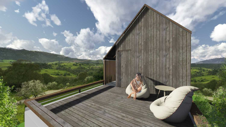 Foto inspirasi ide desain atap Rooftop oleh Studio Asri di Arsitag