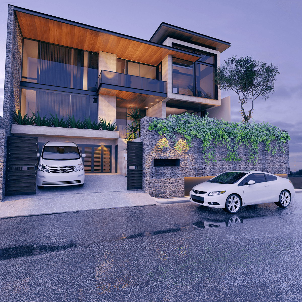 Pt. Indodesign Kreasi Mandiri Pantai Indah Kapuk House Jakarta, Indonesia Jakarta, Indonesia Facade-Option-1  8628