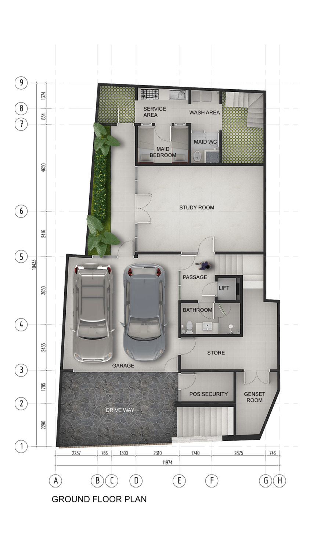 Pt. Indodesign Kreasi Mandiri Menteng Town House Jakarta, Indonesia Jakarta, Indonesia Ground-Floor-Plan Kontemporer 8673
