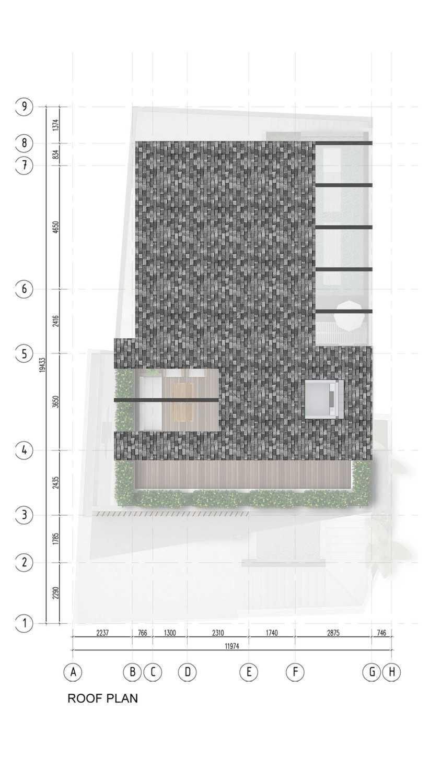 Pt. Indodesign Kreasi Mandiri Menteng Town House Jakarta, Indonesia Jakarta, Indonesia Roof-Plan Kontemporer 8682
