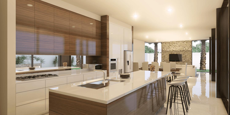 Foto inspirasi ide desain dapur tropis Front-entry-view oleh PT. INDODESIGN KREASI MANDIRI di Arsitag