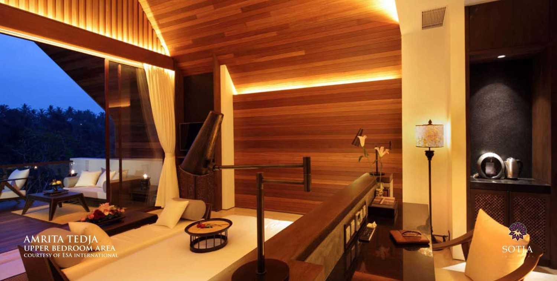 Sotja Interiors Amrita Tedja At Ubud Bali, Indonesia Bali, Indonesia Upper Bedroom Area  8730