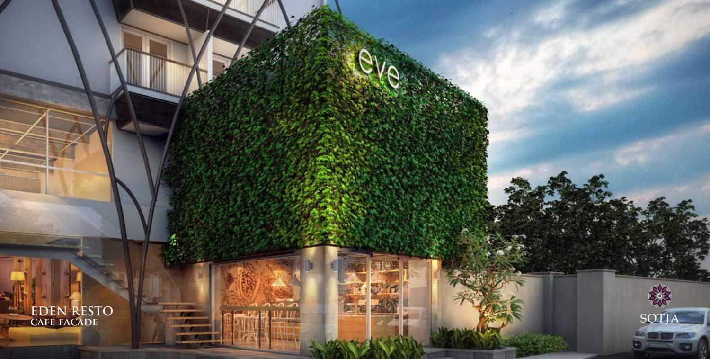 Foto inspirasi ide desain restoran Cafe-facade oleh SOTJA Interiors di Arsitag