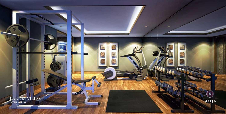 Foto inspirasi ide desain gym Gym-area oleh SOTJA Interiors di Arsitag