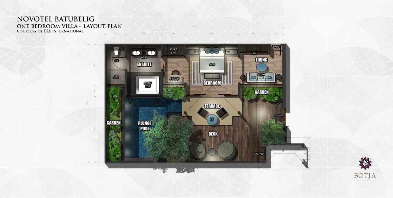 Sotja Interiors Novotel At Batu Belig Bali, Indonesia Bali, Indonesia One-Bedroom-Villa-Layout-Plan Kontemporer 9945