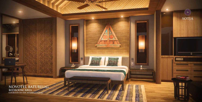Foto inspirasi ide desain kamar tidur kontemporer Bedroom-area oleh SOTJA Interiors di Arsitag
