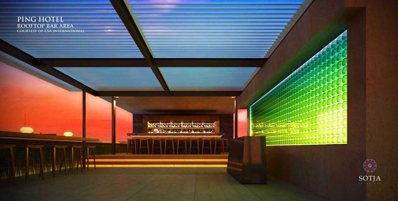 Foto inspirasi ide desain atap Rooftop-bar-area oleh SOTJA Interiors di Arsitag