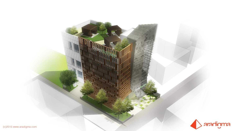 Foto inspirasi ide desain ruang kerja tropis Kantor cyber borneo - pandangan atas oleh aradigma di Arsitag