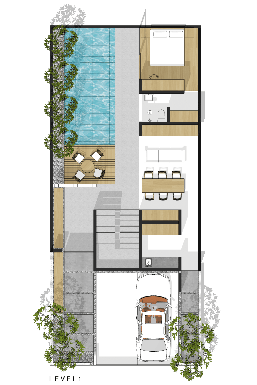 Plat Dt House Jakarta Jakarta Denah Modern 16545