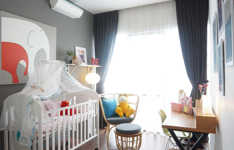 Foto inspirasi ide desain kamar tidur anak minimalis Nursery-room oleh Vindo Design di Arsitag