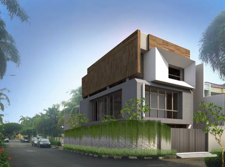 Nimara Architects  Dh Modern House Jakarta, Indonesia Jakarta, Indonesia Front-View Modern 10795