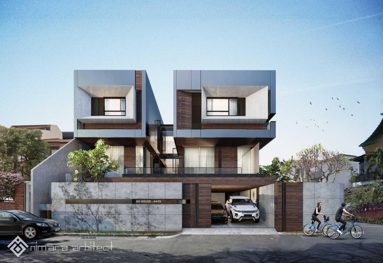 Nimara Architects  Dh House Jakarta Barat Jakarta Barat Facade-2-Lowres Kontemporer,minimalis,modern 16999