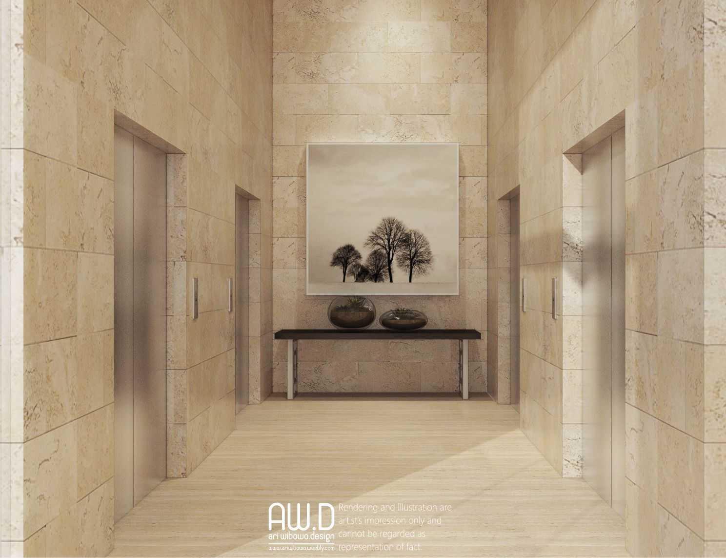 Foto inspirasi ide desain koridor dan lorong asian Corridor lift oleh ari wibowo design (AW.D) di Arsitag