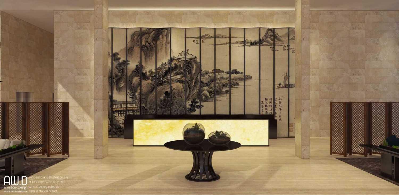 Foto inspirasi ide desain lobby asian Reception area oleh ari wibowo design (AW.D) di Arsitag