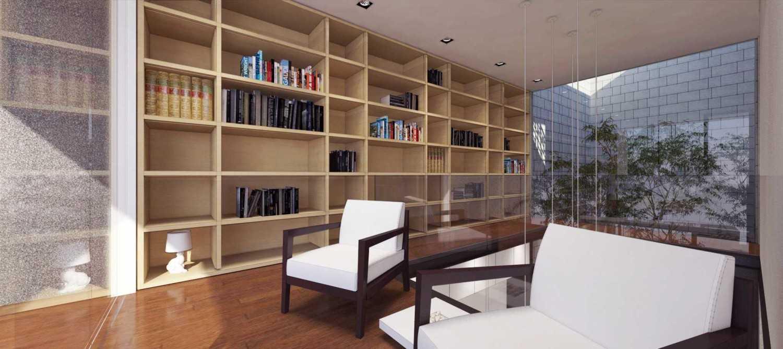 Foto inspirasi ide desain perpustakaan modern Reading room oleh ari wibowo design (AW.D) di Arsitag