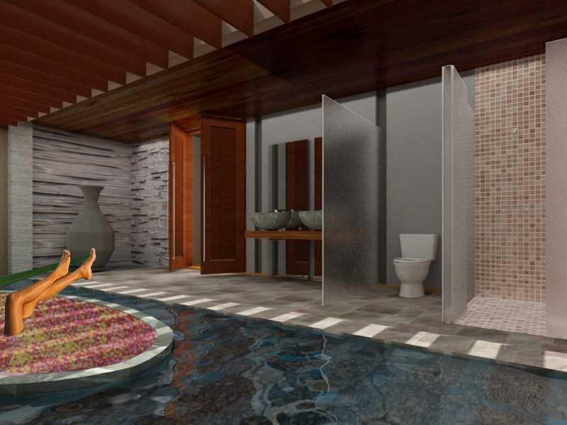 Jerry M. Febrino Villa & Spa Bogor Bogor Bathroom  9653