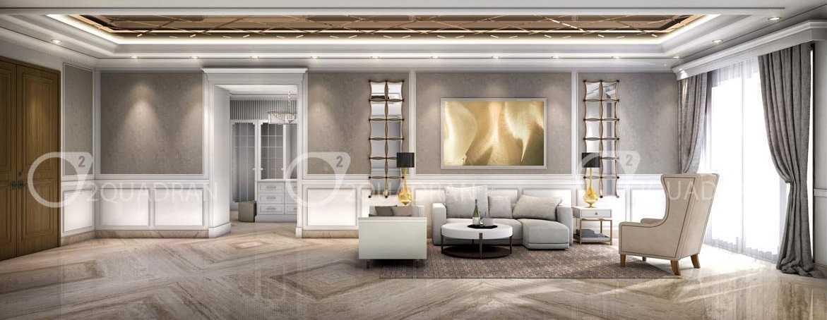 Foto inspirasi ide desain ruang keluarga klasik Livingroom oleh teddykoo  di Arsitag