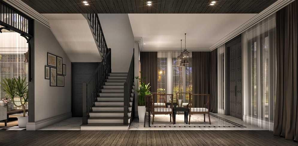 Foto inspirasi ide desain rumah modern Stairs oleh teddykoo  di Arsitag