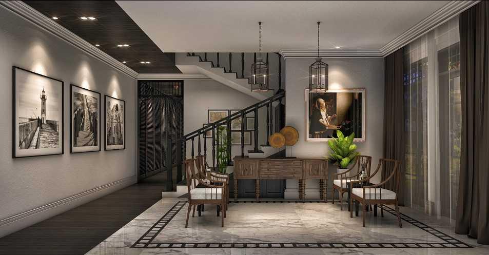 Foto inspirasi ide desain ruang keluarga modern Guest room oleh teddykoo  di Arsitag