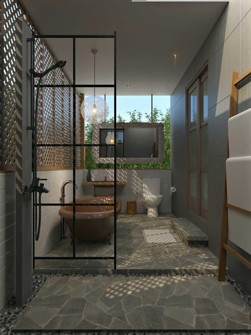 Foto inspirasi ide desain kamar mandi kontemporer Smsuite-bath oleh erwin kusuma di Arsitag
