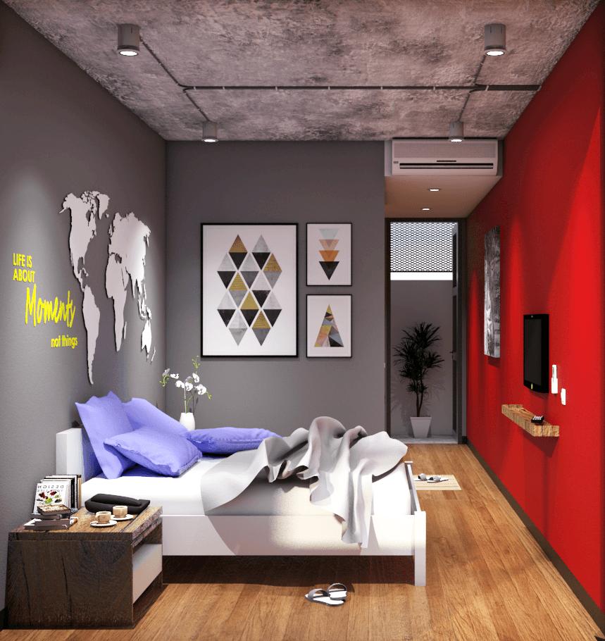 Foto inspirasi ide desain kamar tidur kontemporer 1490669385422 oleh erwin kusuma di Arsitag