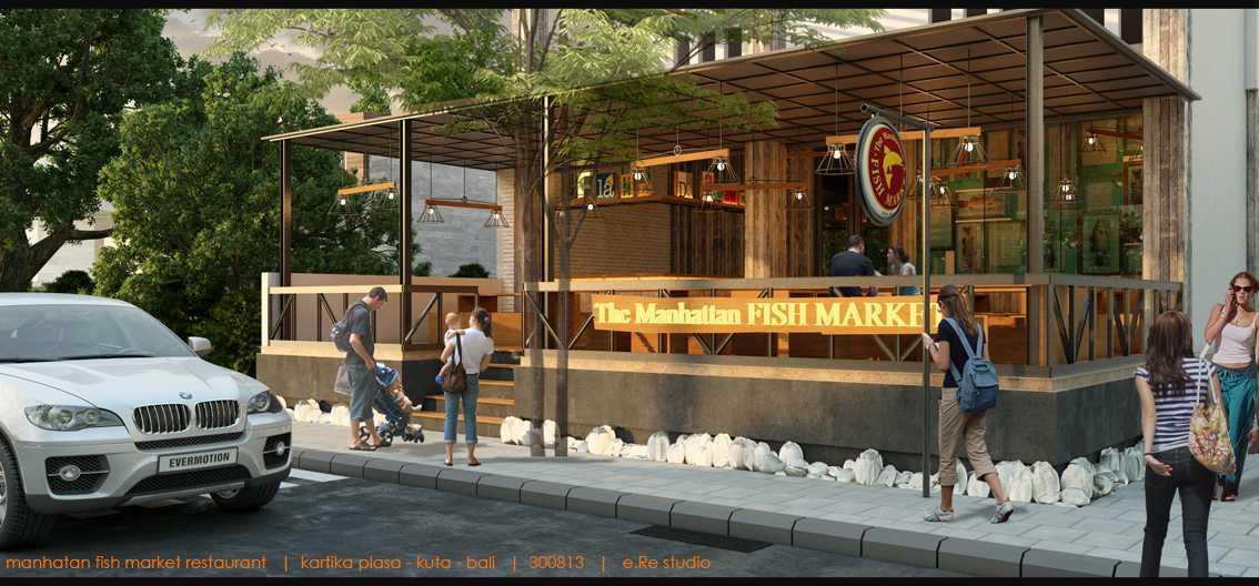Foto inspirasi ide desain exterior industrial Sm-themanhattanfishmarketbalicafecam1c oleh erwin kusuma di Arsitag