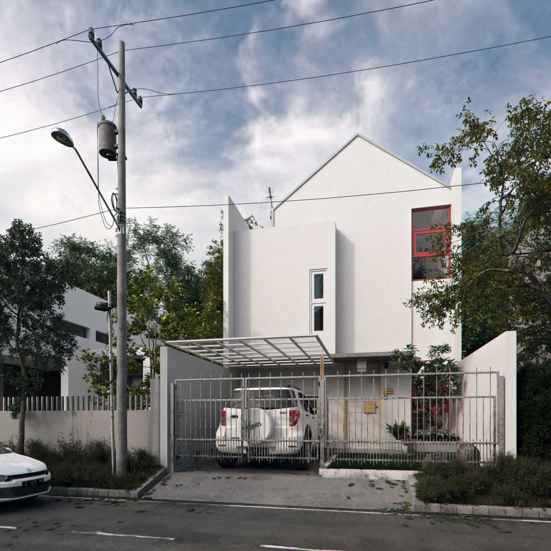 Foto inspirasi ide desain exterior skandinavia Front view oleh erwin kusuma di Arsitag