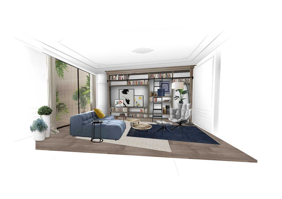 Foto inspirasi ide desain perpustakaan modern Reading area oleh IDeA Agency di Arsitag