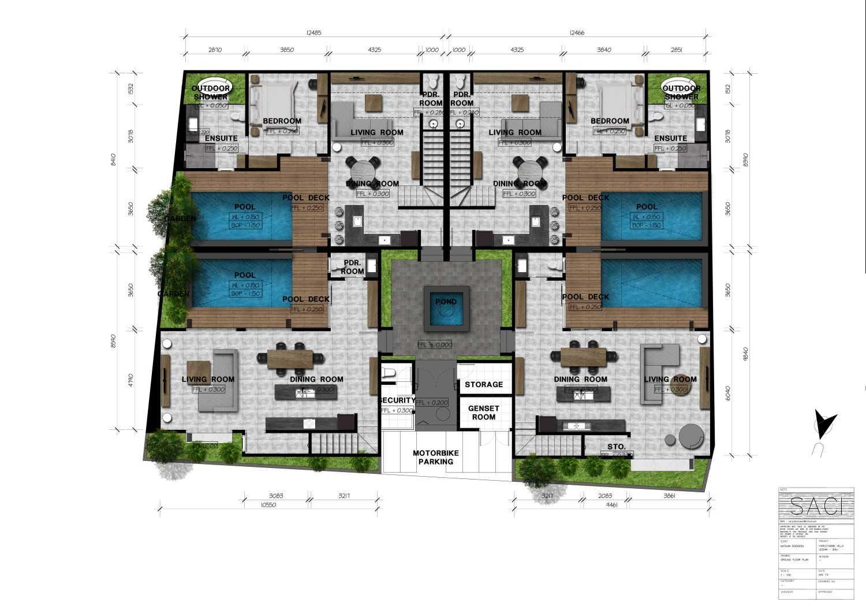 Icds Architect Harleyanne Villa Bali Bali Site Plan  15123