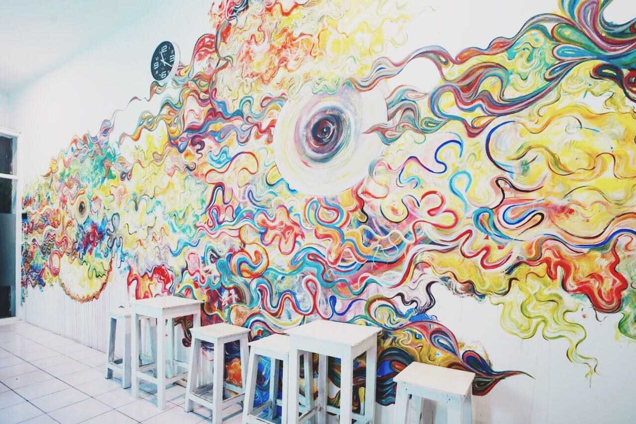 P+Us Architects Studio Wolkenhaus Vapegasm Vape Store Condongcatur, Depok Sub-District, Sleman Regency, Special Region Of Yogyakarta, Indonesia Yogyakarta, Indonesia Psycadelic Mural  28600