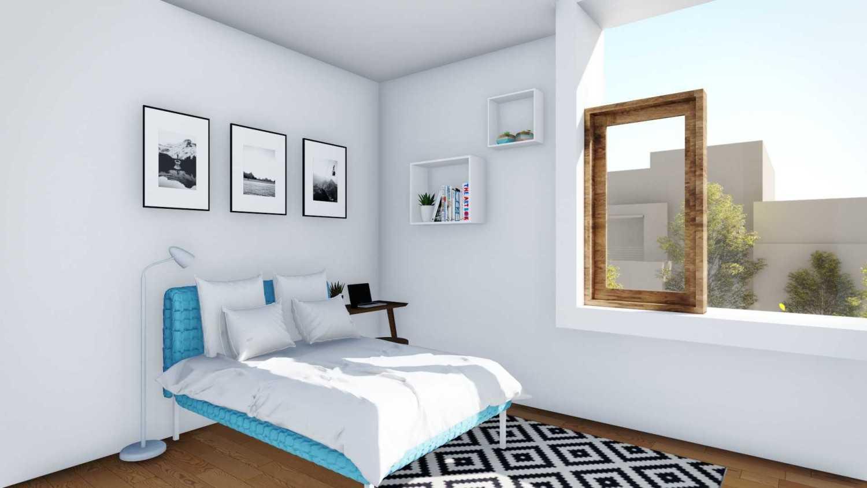 Foto inspirasi ide desain kamar tidur anak minimalis Children bedroom oleh DFORM di Arsitag
