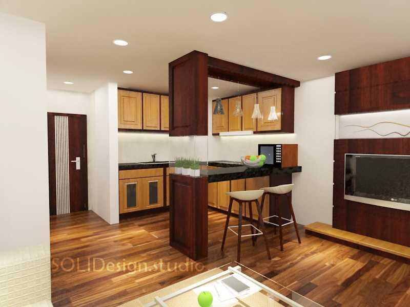 Solidinterior Parisian Modern Style Apartment Jakarta, Indonesia  Jakarta, Indonesia  Kitchen-Set-Apt  10294